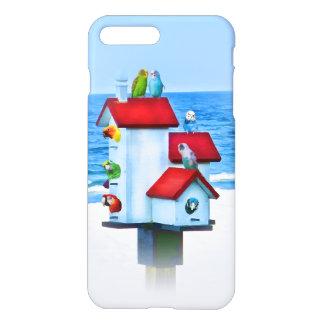 Birdhouse with Parrots and Parakeets iPhone 8 Plus/7 Plus Case