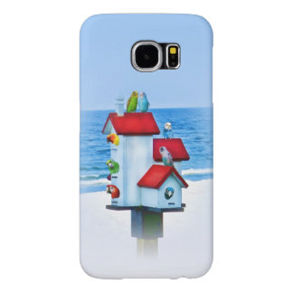 Birdhouse with Parrots and Parakeets Samsung Galaxy S6 Case