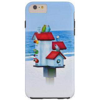 Birdhouse with Parrots and Parakeets Tough iPhone 6 Plus Case