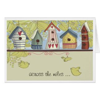 Birdhouses caprichosos Notecard Felicitación