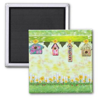 Birdhouses en imán de la primavera