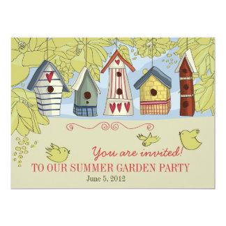 Birdhouses Garden Party Invitation