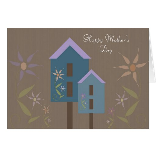 Birdhouses Happy Mother's Day Greeting Card