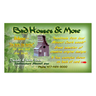 Birdhouses in southern Missouri {custom designed} Business Card