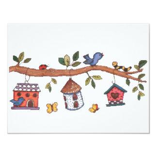 """Birdhouses Invitación 4.25"""" X 5.5"""""""