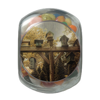 Birdhouses Jelly Belly Candy Jar