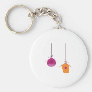 Birdhouses Basic Round Button Keychain