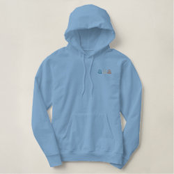 Embroidered Basic Pullover Hoodie with Embroidered Back Yard Birder Gifts design
