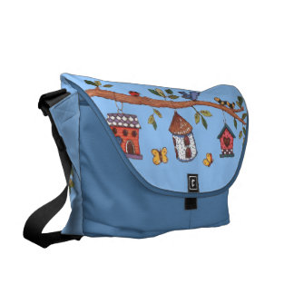 Birdhouses Messenger Bag