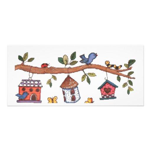Birdhouses Tarjeta Publicitaria A Todo Color