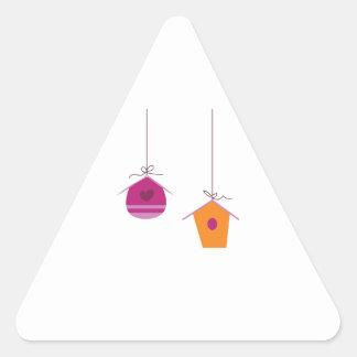 Birdhouses Triangle Sticker