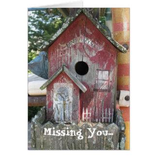 birdhousevintage, faltándole… tarjeta de felicitación