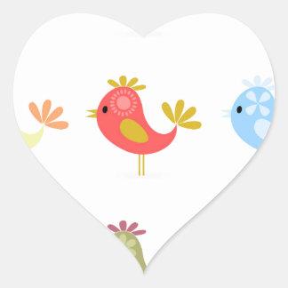 Birdie2 Pegatina En Forma De Corazón