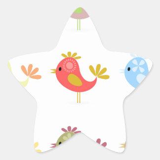 Birdie2 Pegatina En Forma De Estrella