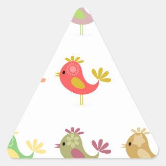 Birdie2 Pegatina Triangular