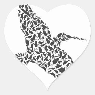 Birdie4 Pegatina En Forma De Corazón
