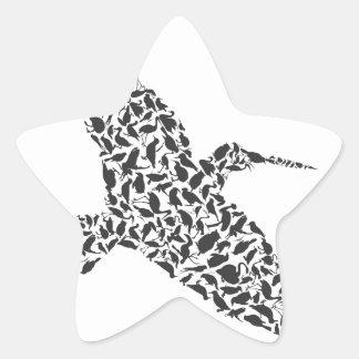 Birdie4 Pegatina En Forma De Estrella