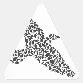 Birdie4 Pegatina Triangular