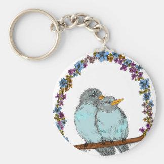 Birdie Arch Basic Round Button Keychain