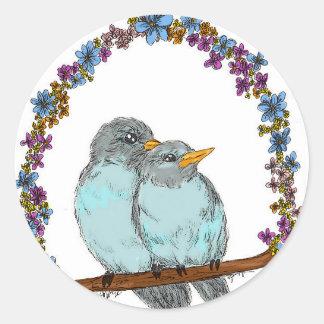 Birdie Arch Classic Round Sticker