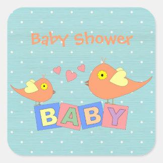 Birdie Baby Blocks Baby Shower Stickers