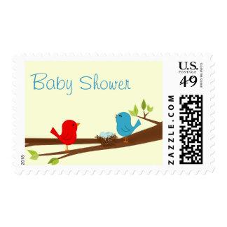 Birdie Baby Shower Stamp