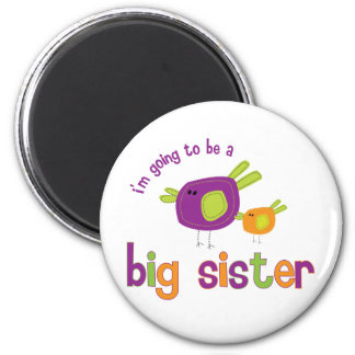 birdie big sister to be 2 inch round magnet
