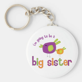 birdie big sister to be keychains