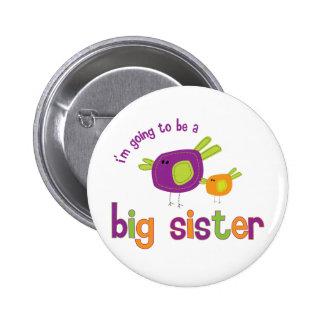 birdie big sister to be pinback button