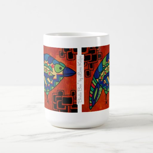 """Birdie Boo"" 15 oz. Mug by Lara Kulpa"