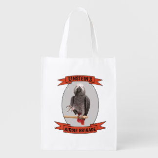 Birdie Brigade African Grey Parrot Grocery Bag