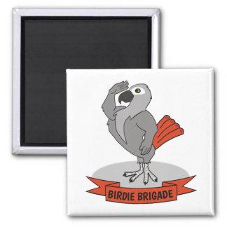 Birdie Brigade Einstein Parrot Fandom Magnet