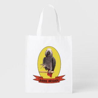 Birdie Brigade Yellow Einstein Parrot Fandom Grocery Bag