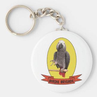 Birdie Brigade Yellow Einstein Parrot Fandom Keychain