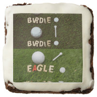 Birdie Eagle Golf with Tee and Marker Brownie