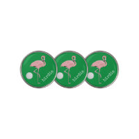 Birdie Flamingo Golf Ball Marker