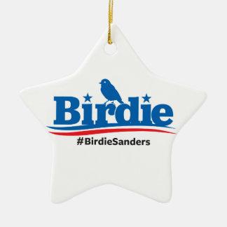 Birdie for President #Birdie #BirdieSanders Ceramic Ornament