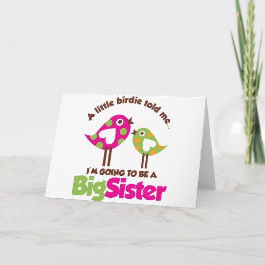 Birdie Going To Be A Big Sister Announcement Zazzle Com