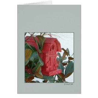 Birdie House Card