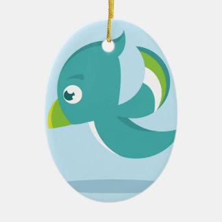 Birdie Icon Ceramic Ornament
