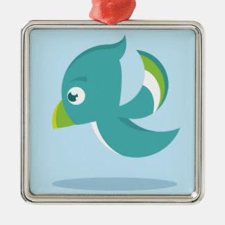 Birdie Icon Metal Ornament