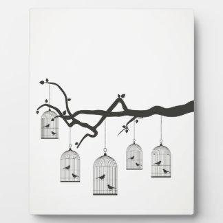 Birdie in a cage3 plaque