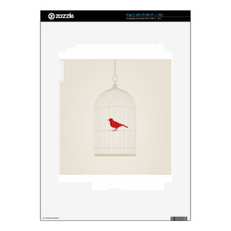 Birdie in a cage decal for iPad 2