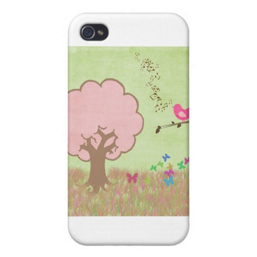 Birdie in a Tree Case For iPhone 4