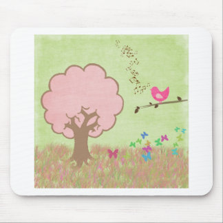 Birdie in a Tree Mouse Pad