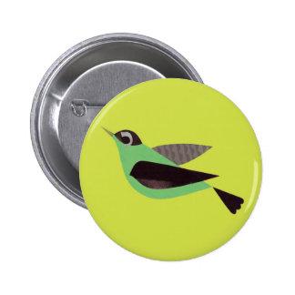 Birdie - Light Green 2 Inch Round Button
