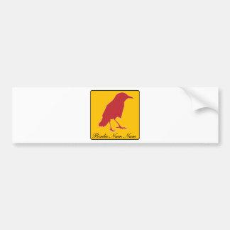 birdie num num bumper sticker