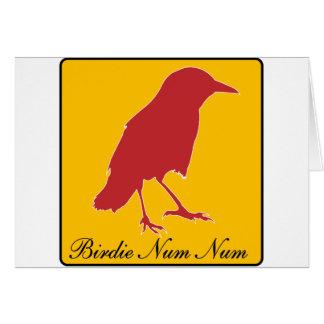 birdie num num card