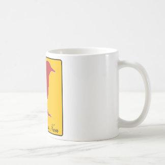 birdie num num classic white coffee mug