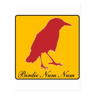 birdie num num postcard